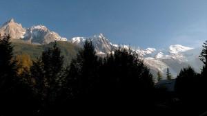 Les Houches vue montagnes